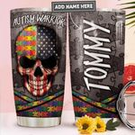 Skull Autism Personalized PYR1211010 Stainless Steel Tumbler