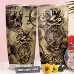 Skull Rose Personalized PYR1211013 Stainless Steel Tumbler
