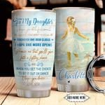 To Daughter Personalized NNR1211016 Stainless Steel Tumbler