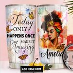 Black Woman Personalized DNC1211006 Stainless Steel Tumbler