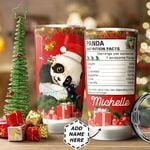 Christmas Panda Personalized HTC1211010 Stainless Steel Tumbler
