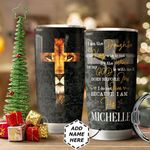 Lion Faith Personalized HTQ1211013 Stainless Steel Tumbler