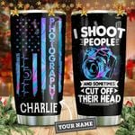 Heart Beat I Shoot People Personalized KD2 HNM1211004 Stainless Steel Tumbler