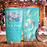 Ceramic Style Dolphin Advice KD2 MAL1211002 Stainless Steel Tumbler