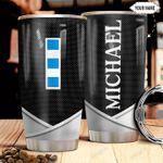 Personalized US Navy W4 Metal Style HHZ1211045 Stainless Steel Tumbler