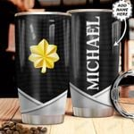 Personalized US Navy O4 Metal Style HHZ1211035 Stainless Steel Tumbler