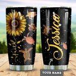 Personalized Sunflower Turtle Faith TTZ1211026 Stainless Steel Tumbler