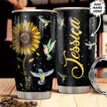 Personalized Sunflower Hummingbird HHZ1211025 Stainless Steel Tumbler