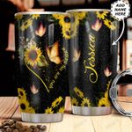 Personalized Sunflower Butterfly HHZ1211023 Stainless Steel Tumbler