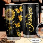 Personalized Sunflower Butterfly Faith HHZ1211022 Stainless Steel Tumbler