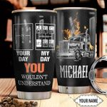 Personalized Trucker Day HHZ1211028 Stainless Steel Tumbler
