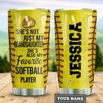 Personalized Softball To My Granddaughter TTZ1211021 Stainless Steel Tumbler