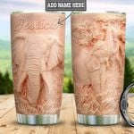 Personalized Pink Elephant HLZ1211019 Stainless Steel Tumbler