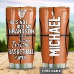 Personalized Basketball To My Grandson TTZ1211007 Stainless Steel Tumbler
