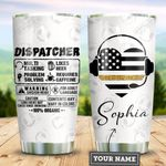 Personalized Dispatcher Label TTZ1211013 Stainless Steel Tumbler