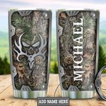 Personalized Camouflage Deer Skull HLZ1211009 Stainless Steel Tumbler