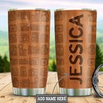 Personalized Camera Wood Style HLZ1211008 Stainless Steel Tumbler