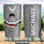 Personalized Air Force Face Shark Plane HLZ1211001 Stainless Steel Tumbler