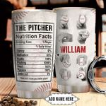 Baseball Pitcher Fact Personalized NNR1311003 Stainless Steel Tumbler