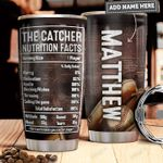 Baseball Catcher Fact Personalized PYR1311008 Stainless Steel Tumbler