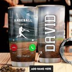 Baseball Calling Personalized DNR1311016 Stainless Steel Tumbler