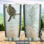 Personalized Turtle Ocean Coming Ceramic Style HLZ1311033 Stainless Steel Tumbler
