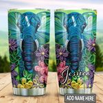 Personalized Elephant Paper Craft Style TTZ1311017 Stainless Steel Tumbler