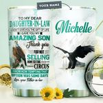 Personalized Eagle To My Daughter In Law HHZ1311014 Stainless Steel Tumbler