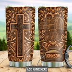 Personalized Farmer Faith Wood Style HLZ1311018 Stainless Steel Tumbler