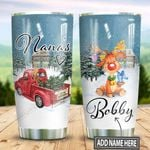 Personalized Christmas Nana Reindeer TTZ1311011 Stainless Steel Tumbler