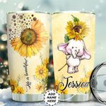 Elephant Sunflower Personalized TAS1311007 Stainless Steel Tumbler