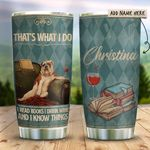 Bulldog Books Wine Know Things Personalized KD2 HRX1311003 Stainless Steel Tumbler