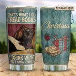 Black Cat Books Personalized KD2 HRX1311001 Stainless Steel Tumbler