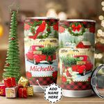 Christmas Truck Personalized HTC1311003 Stainless Steel Tumbler