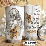 Deer Mother And Baby Personalized HTQ1311005 Stainless Steel Tumbler