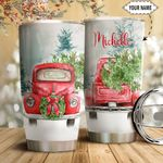 Red Truck Christmas Personalized HTQ1311012 Stainless Steel Tumbler