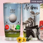 Golf Calling Personalized MDA1411004 Stainless Steel Tumbler