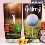 Golf Calling Personalized MDA1411005 Stainless Steel Tumbler