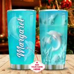 Ceramic Style Dolphin Personalized KD2 MAL1411002 Stainless Steel Tumbler