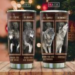 Wooden Style Wolf Advice KD2 HAL1411018 Stainless Steel Tumbler