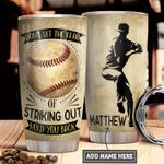 Baseball Pitcher Personalized PYR1411002 Stainless Steel Tumbler