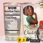 Black Mom Fact Personalized NNR1411004 Stainless Steel Tumbler