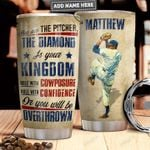 Personalized Baseball Pitcher PYR1411021 Stainless Steel Tumbler