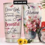 Dragonfly Faith Personalized DNR1411010 Stainless Steel Tumbler