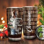 Books Library Personalized KD2 BGX1411005 Stainless Steel Tumbler