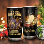 Book Dragon Personalized KD2 BGX1411001 Stainless Steel Tumbler