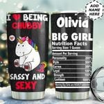Chubby Unicorn Personalized TAS1411002 Stainless Steel Tumbler
