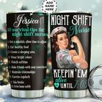 Night Shift Nurse Tips Personalized TAS1411004 Stainless Steel Tumbler