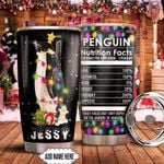 Penguin Nutrition Facts Personalized KD2 HNM1411008 Stainless Steel Tumbler