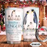 Advice From Penguin Personalized KD2 HNM1411001 Stainless Steel Tumbler